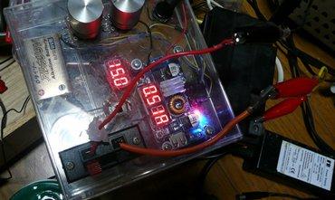 DCコンバーターでスクーターバッテリー充電.JPG